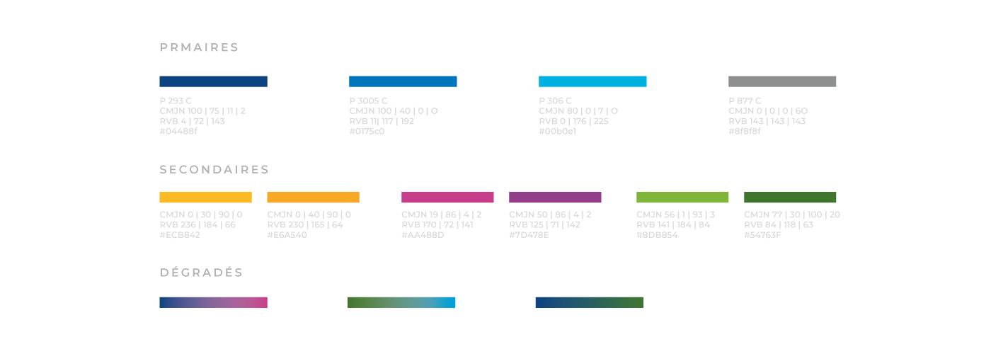 COMvergence Identité couleurs