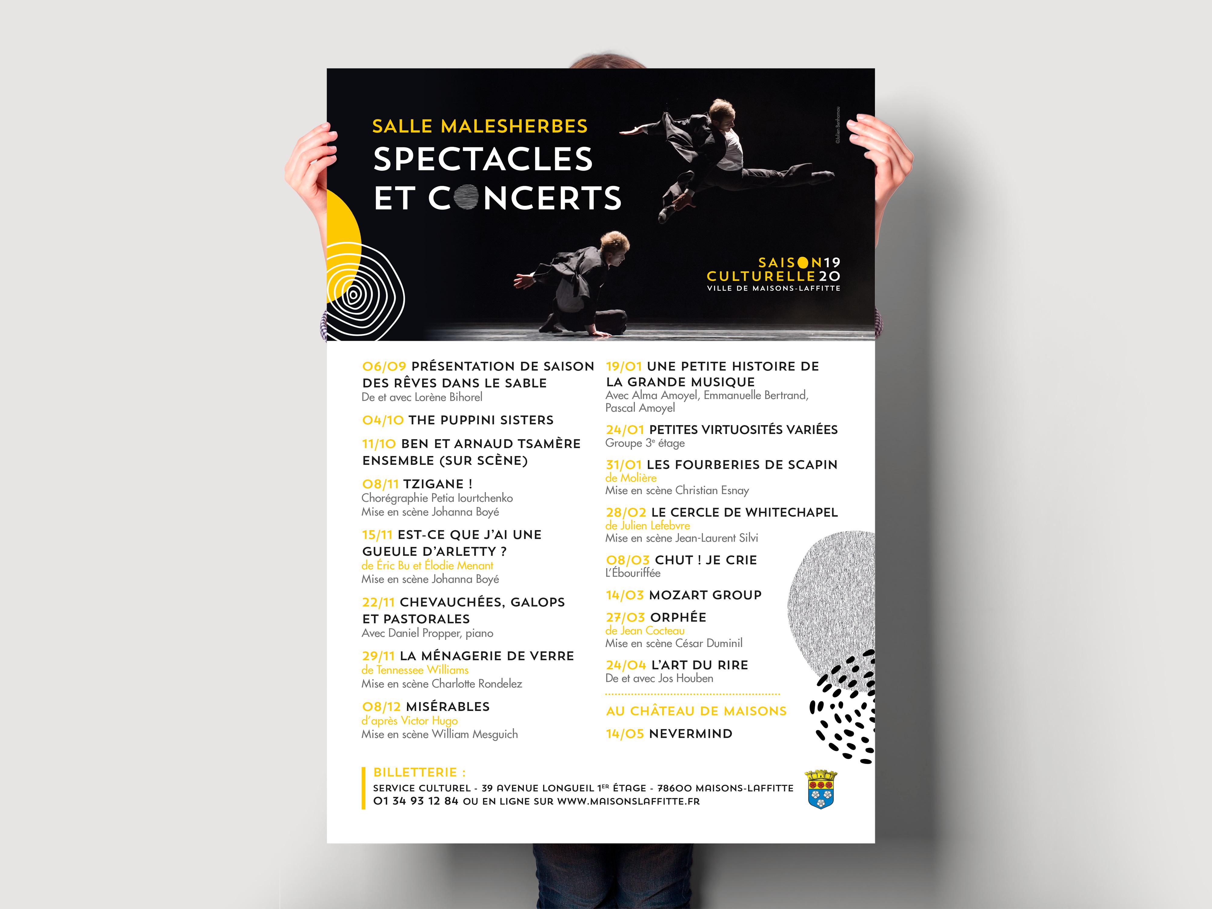 Maisons-Laffitte Saison Culturelle 2019-2020 affiche