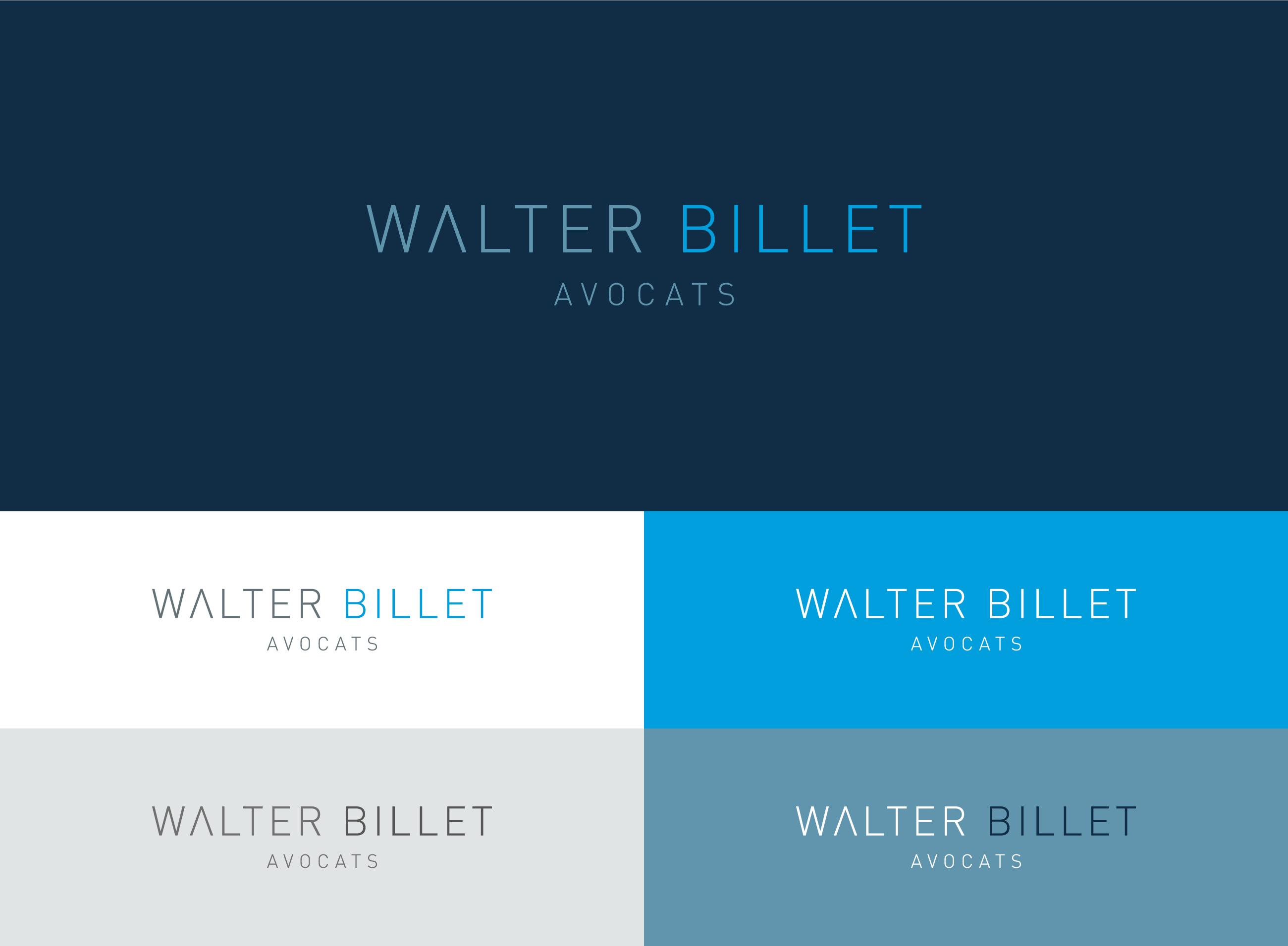 Walter Billet Avocats identité logo