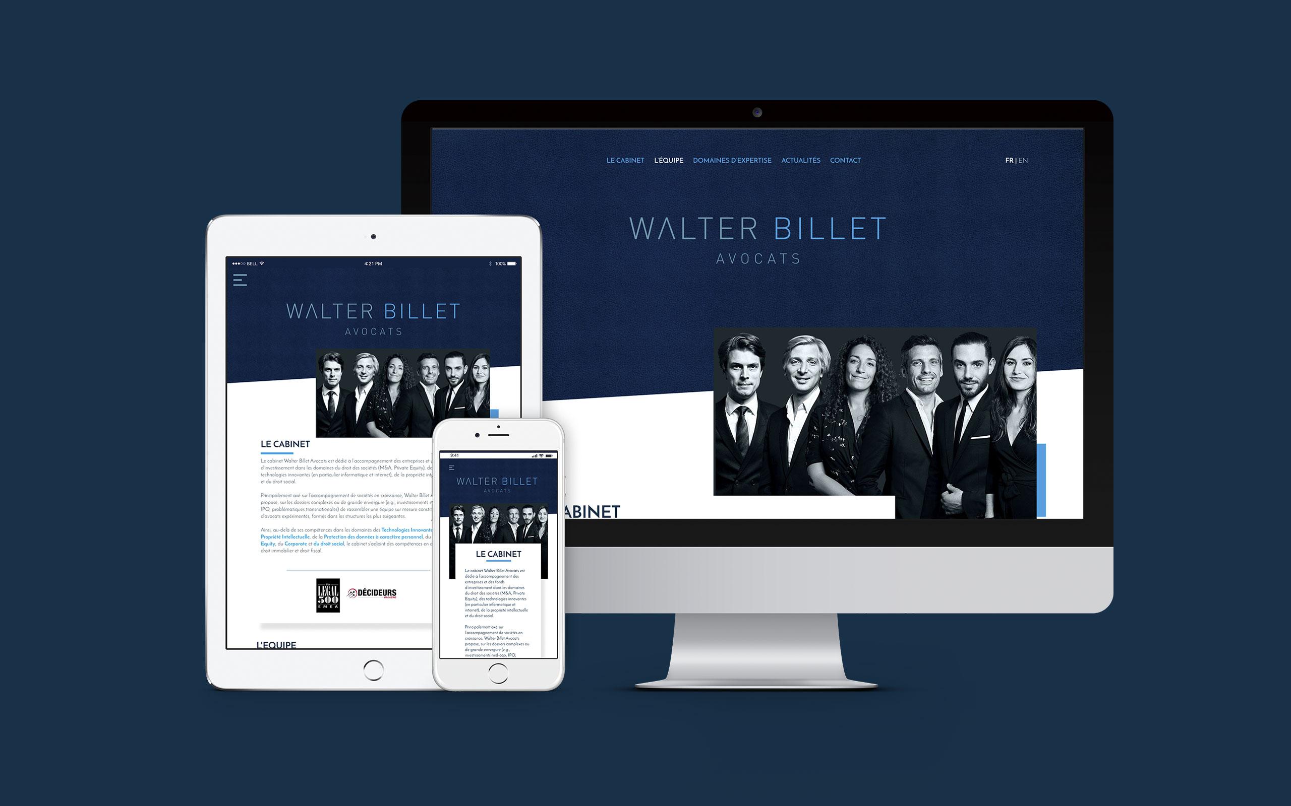 Walter Billet Avocats identité site