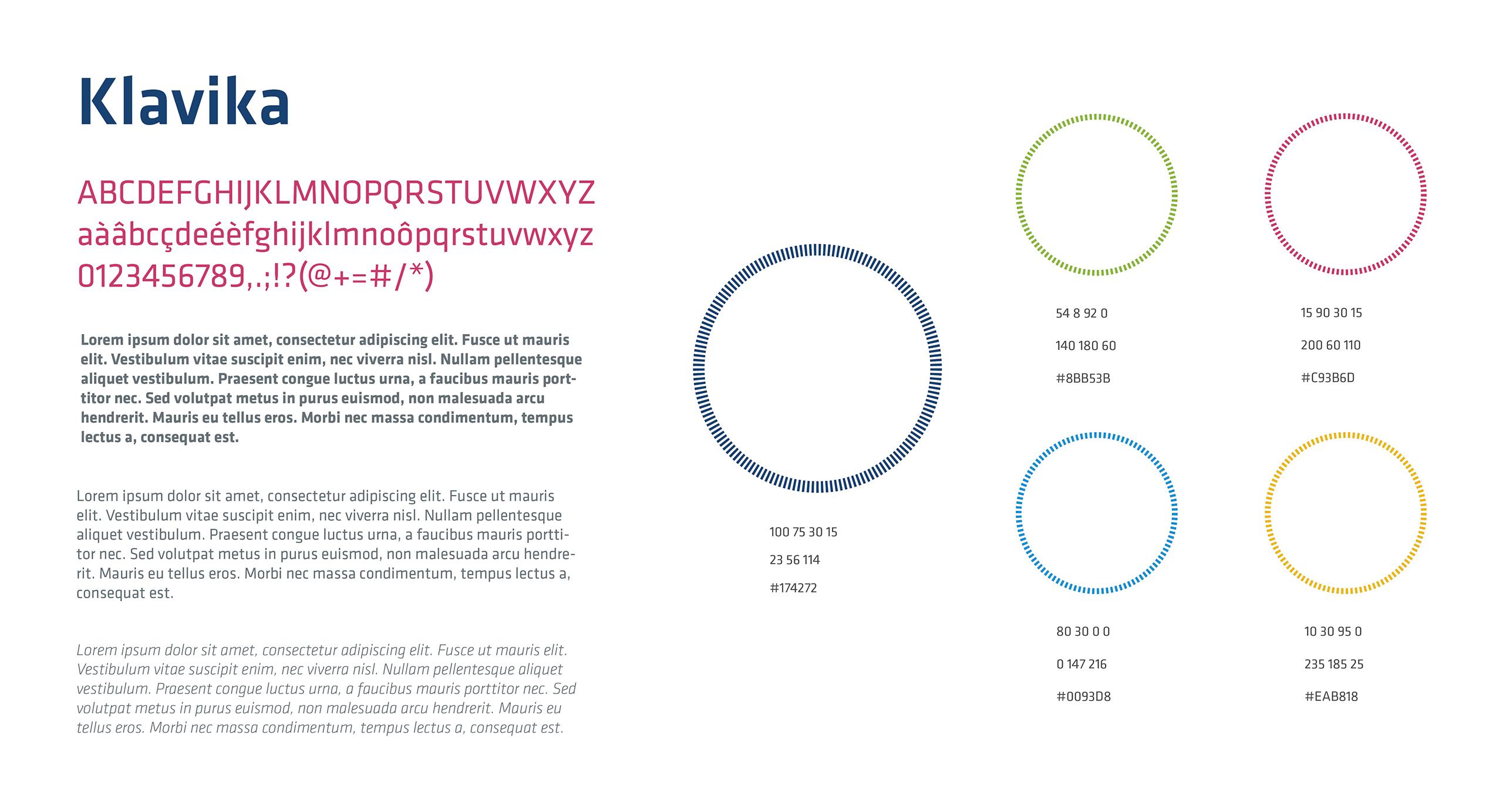 Asap couleurs et typeface