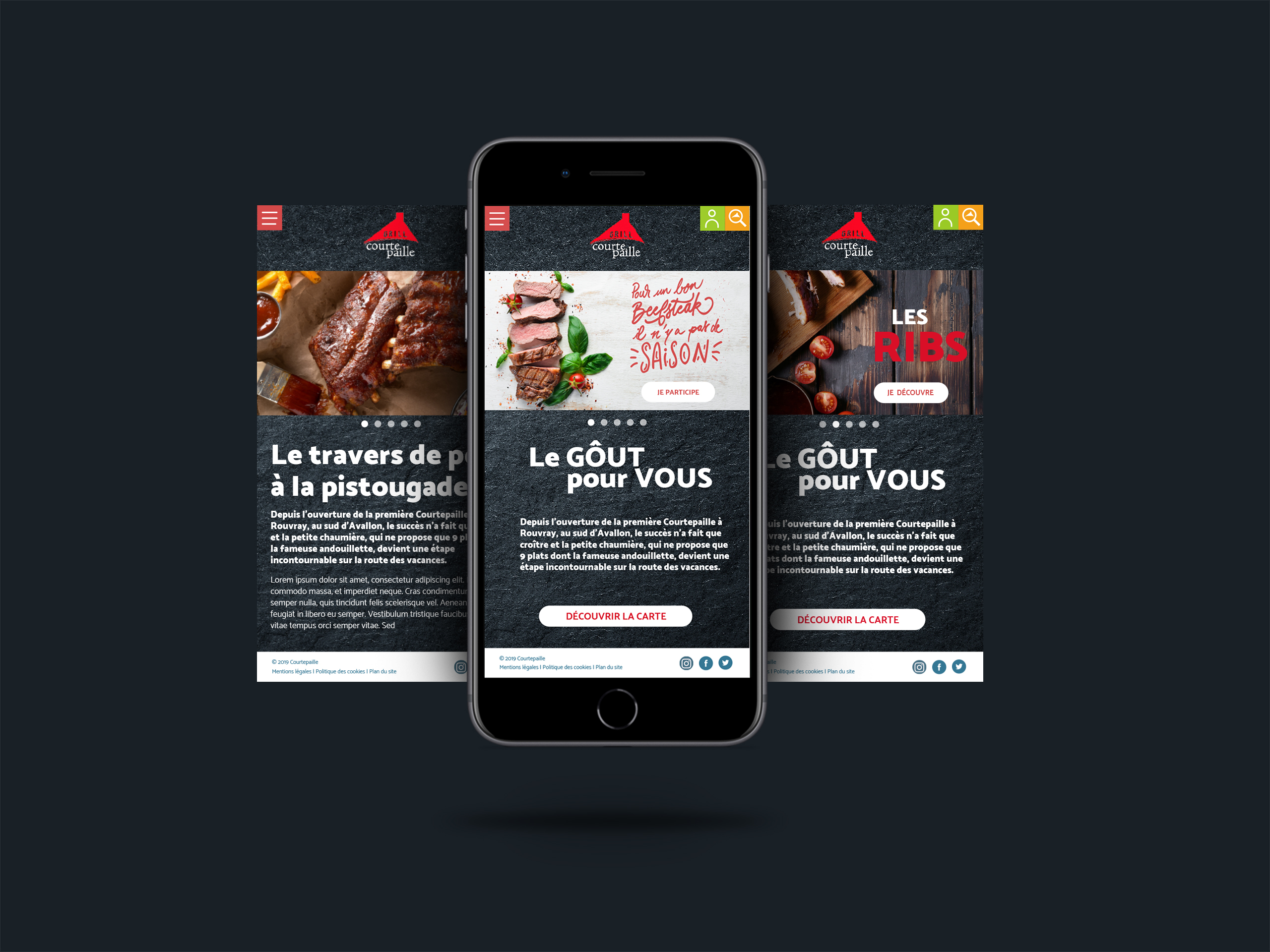 Courtepaille site mobile