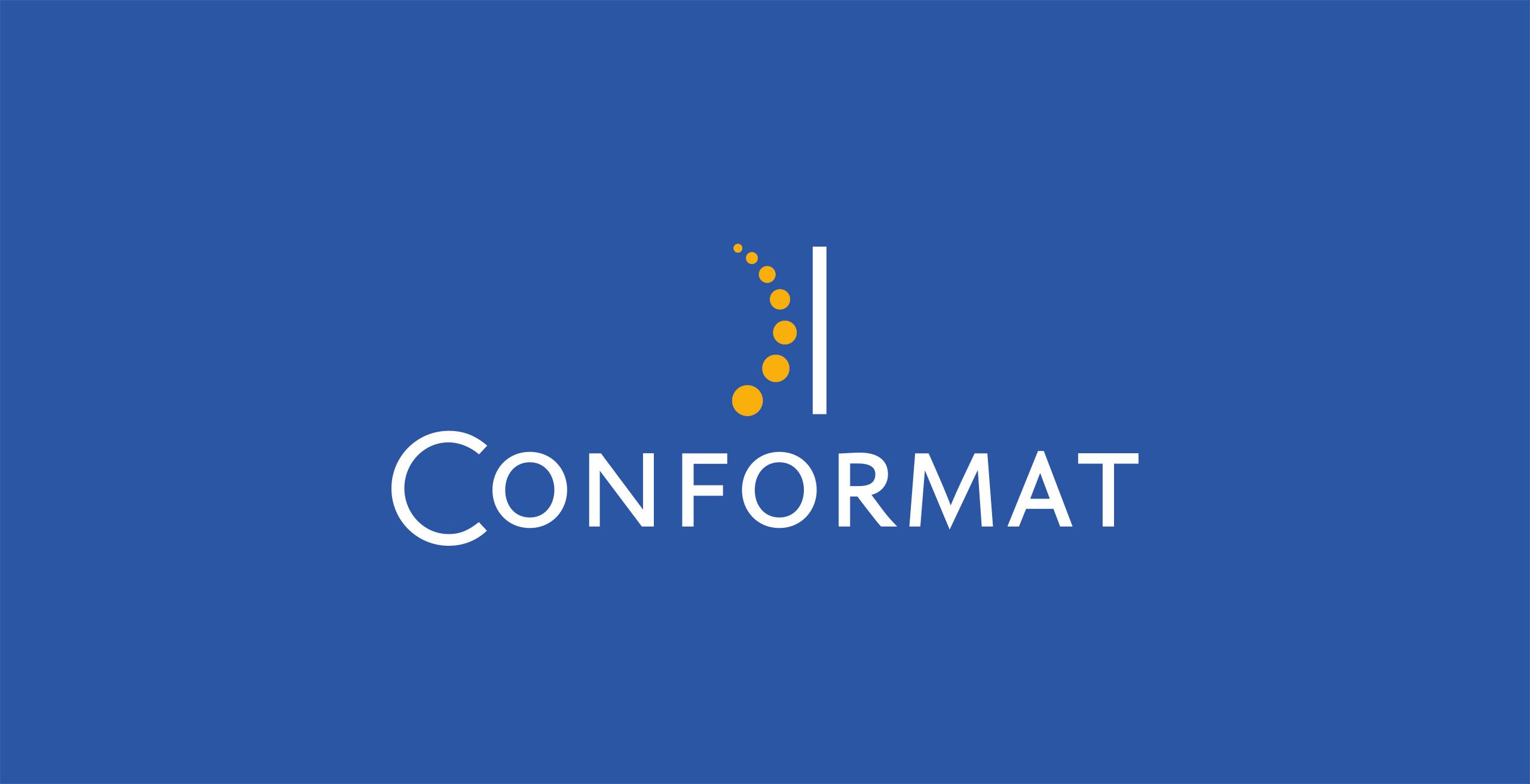 onformat logo fond bleu